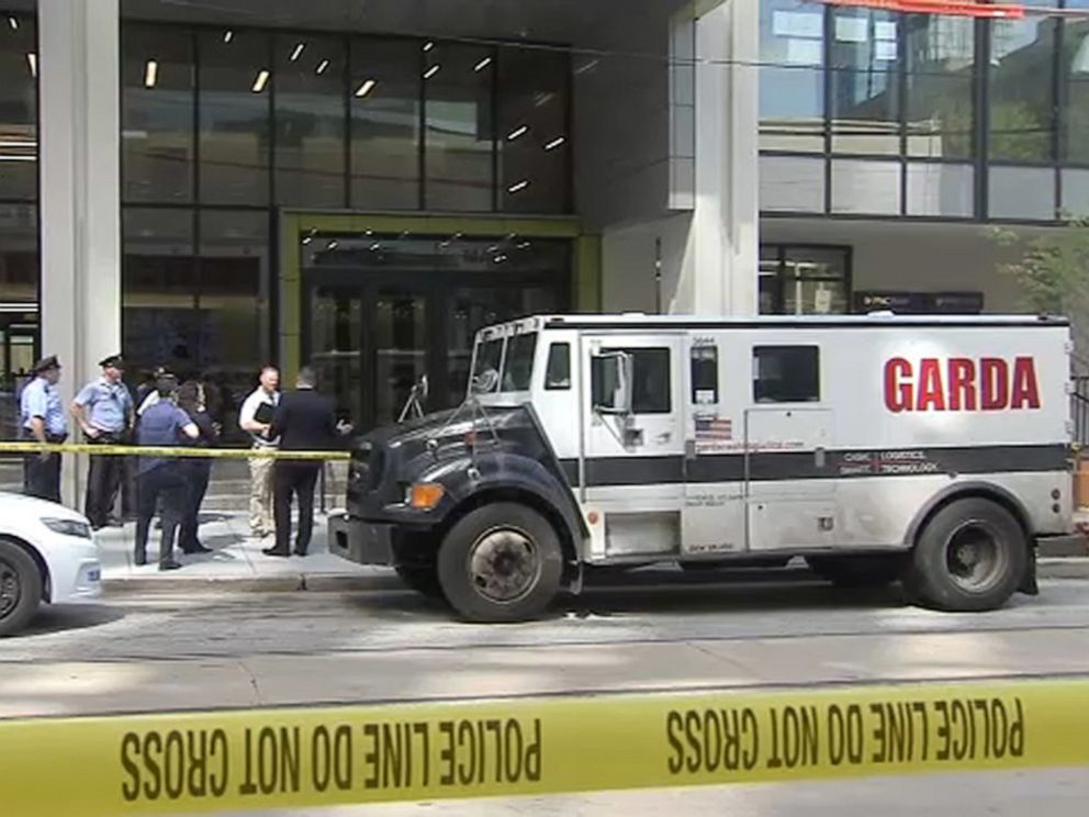 PHOTO: Philadelphia police and the FBI are looking for three men who attempted to rob an armored car making a delivery to a bank on Thursday, Aug. 1, 2019.