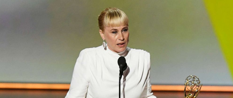 PHOTO: Patricia Arquette accepts the Outstanding Supporting Actress in a Limited Series or Movie award for The Act onstage during the 71st Emmy Awards at Microsoft Theater on September 22, 2019 in Los Angeles, California.