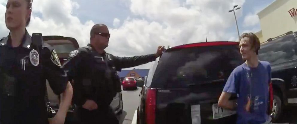 PHOTO: Body cam footage shows Daytona Beach Shore Police arresting Tristan Wix.