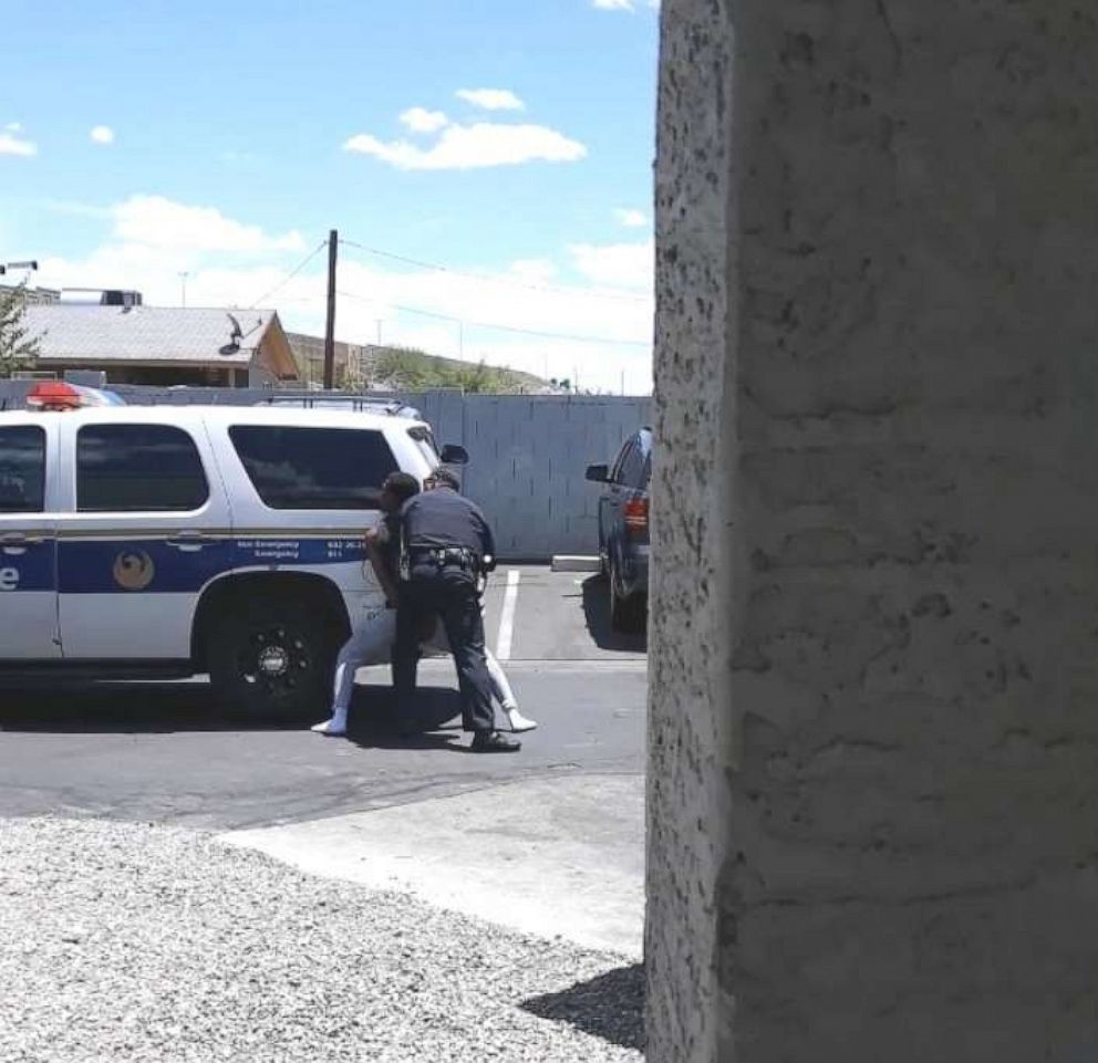 PHOTO: Cellphone video shows officers from the Phoenix Police Department sweep-kicking handcuffed Dravon Ames, May 27, 2019.