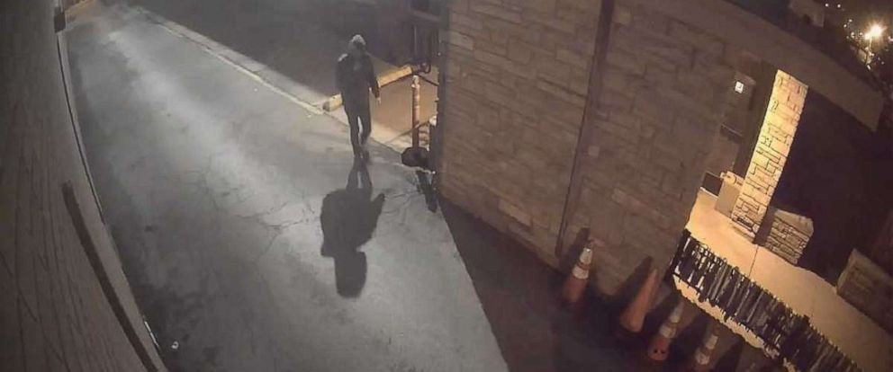 PHOTO: Surveillance video of a man who attempted to start a fire at a synagogue in Chicago, May 19, 2019.