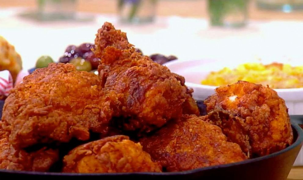 PHOTO: Culinary chefs Art Smith and Adrian De Berardinis join The View for Pride Month and cook Chef Art Smiths famous Buttermilk Fried Chicken on Tuesday, June 25, 2019.