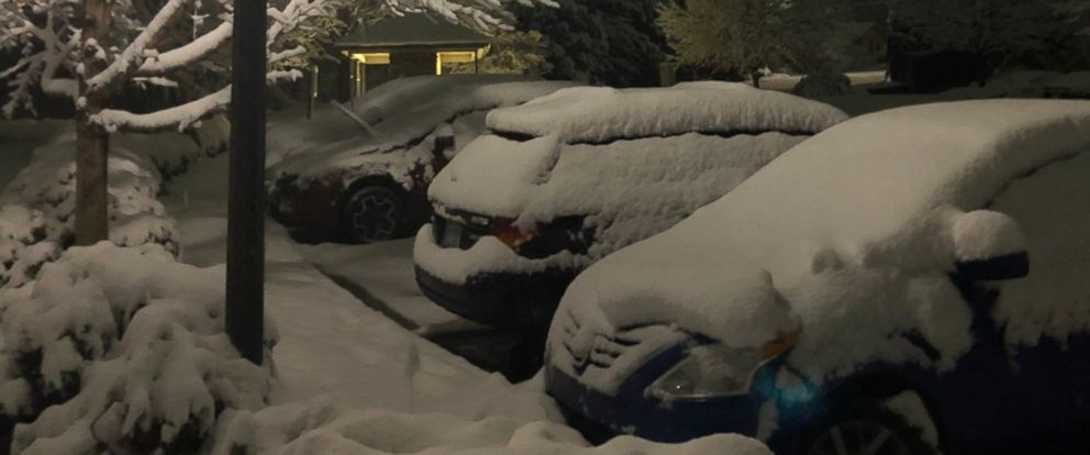 PHOTO: Several inches of snow fell overnight in Asheville, N.C., on Sunday, Dec. 9, 2018. The region was bracing for as much as a foot.
