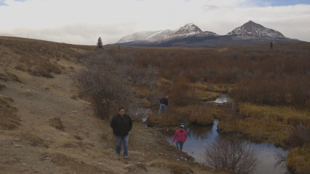 PHOTO: Kimberly Loring and a small search party look for traces of Ashley Loring in the Rocky Mountains. Kimberly says she has conducted more than 40 searches in this remote region where grizzly bears and mountain lions roam.