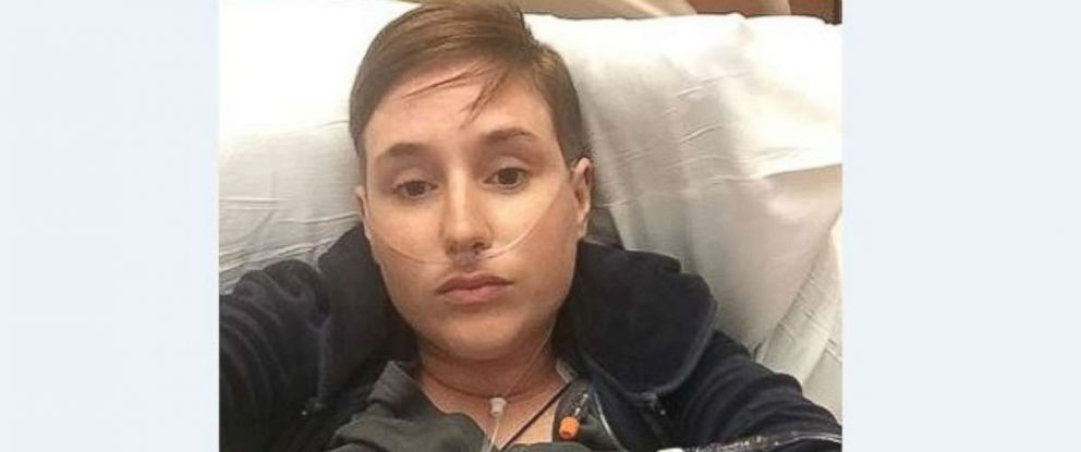 Ashley Spencer, 28, went into anaphylactic shock on a flight to Cleveland Saturday, May 5, 2018, but was saved by doctors on board.