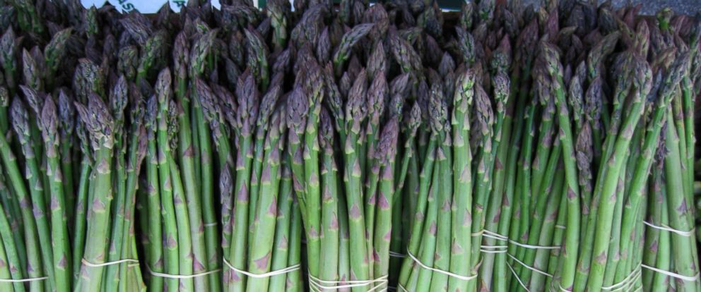 PHOTO: Asparagus, an in season vegetable to look out for at the markets this spring, is photographed here at New York Citys Union Square Greenmarket farmers market.