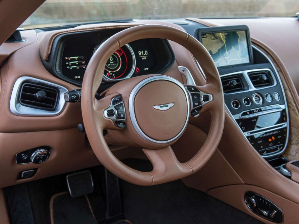 PHOTO: It takes on average 25 hours to hand-stich the leather in each Aston Martin. The hide comes from Scotland.