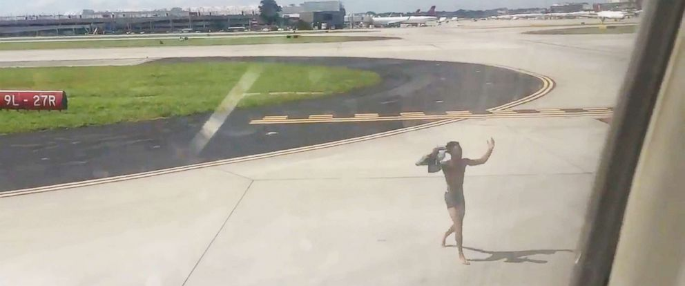 PHOTO: A 19-year-old man has been arrested after he jumped onto the wing of a plane after scaling a fence at the Hartsfield-Jackson Atlanta International Airport.