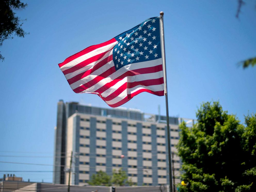 PHOTO: An American flag flies in front of the Atlanta VA Medical Center in Atlanta, May 24, 2013.