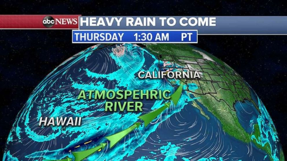 PHOTO: An atmospheric river is bringing waves of precipitation to the West Coast this week.