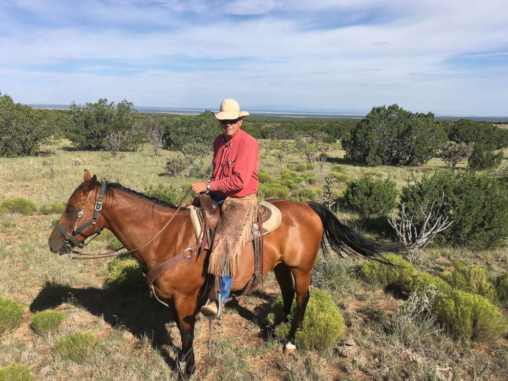 PHOTO: New Mexico State Land Commissioner Aubrey Dunn (riding his quarter horse Shiny) is pictured in this undated photo.