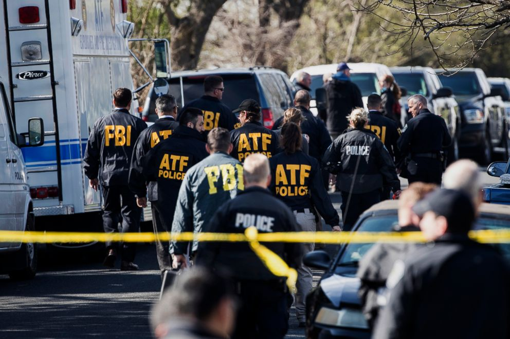 PHOTO: Authorities work on the scene of an explosion in Austin, Texas, March 12, 2018.