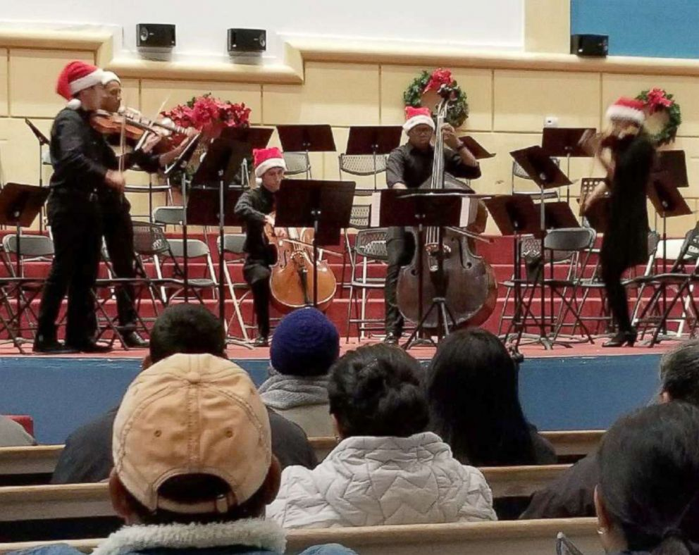 PHOTO: Shown here is Austin explosion victim Draylen Mason, third from left, performing on the bass during a concert.