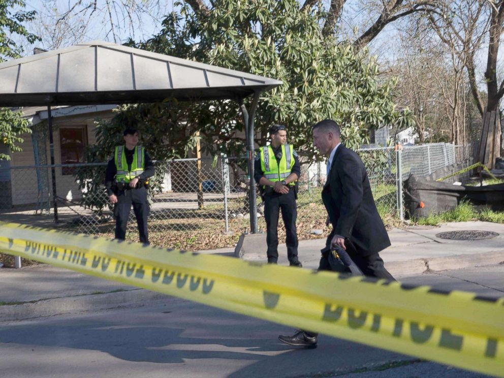 PHOTO: The scene near Galindo Street in Austin, Texas, March 12, 2018, where a woman in her 70s was injured in an explosion.