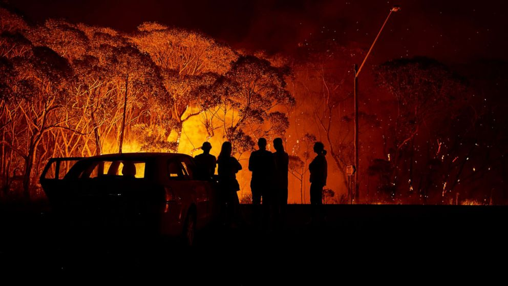 Using Us Map To Examine Scale Of Massive Australia Wildfires Abc