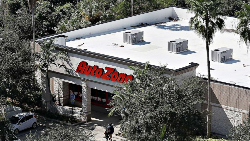 The AutoZone at 801 S. State Road 7 where Cesar Sayoc, a 56-year-old man from Aventura, Fla., was arrested in the possible connection with pipe bombs being mailed to critics of President Donald Trump on Oct. 26, 2018 in Plantation, Fla.