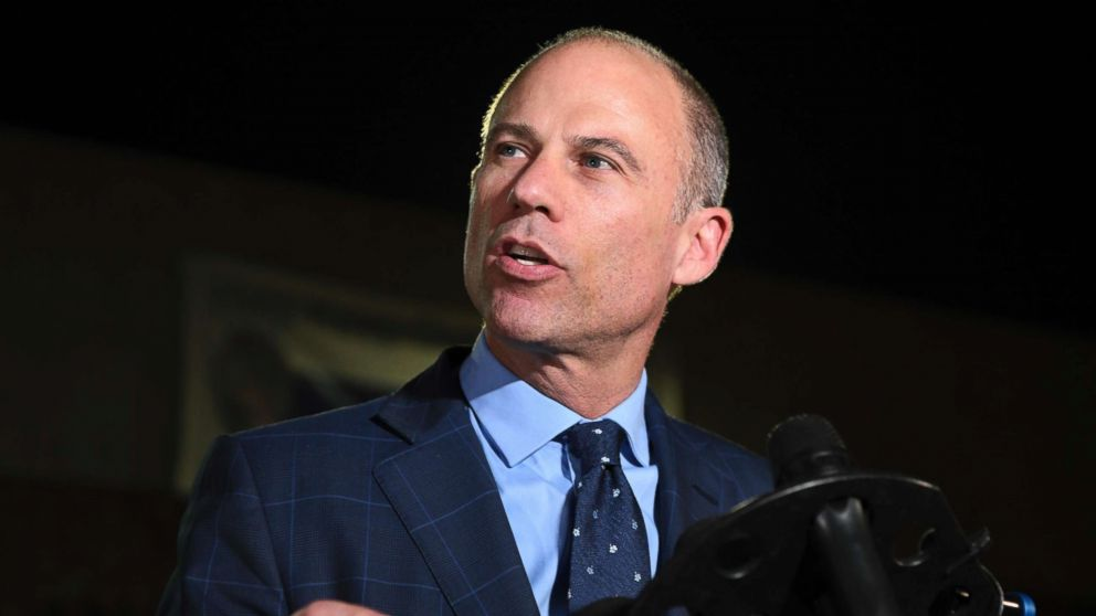 Michael Avenatti speaks to the media outside the Los Angeles Police Department Pacific Division after posting bail for a felony domestic violence charge, Nov. 14, 2018.