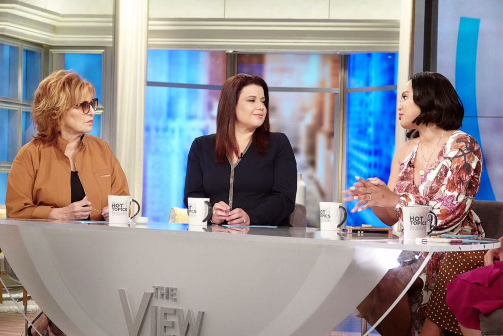 PHOTO: Ayesha Curry opens up about her diverse heritage with The View co-host Joy Behar and guest co-host Ana Navarro on Friday, June 21, 2019.