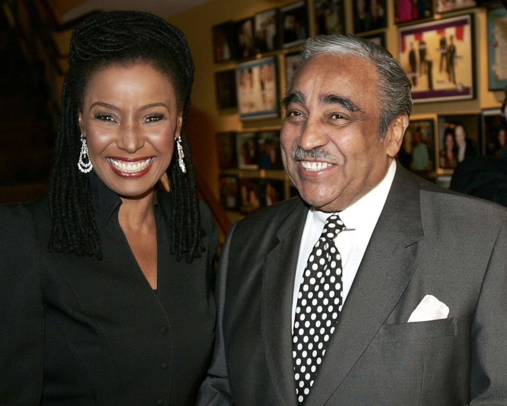 PHOTO: Congressman Charles Rangel attends B. Smith's party at her restaurant to celebrate her new Discovery Channel TV show.