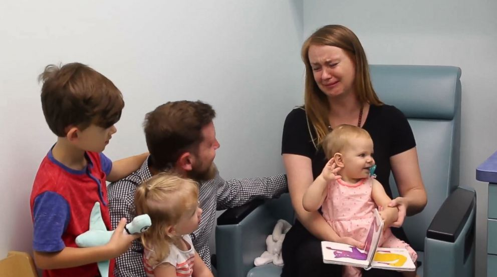 PHOTO: Aylas hearing for the first time bring tears to her mothers eyes at Cooks Children hospital in Texas on June 19, 2018.