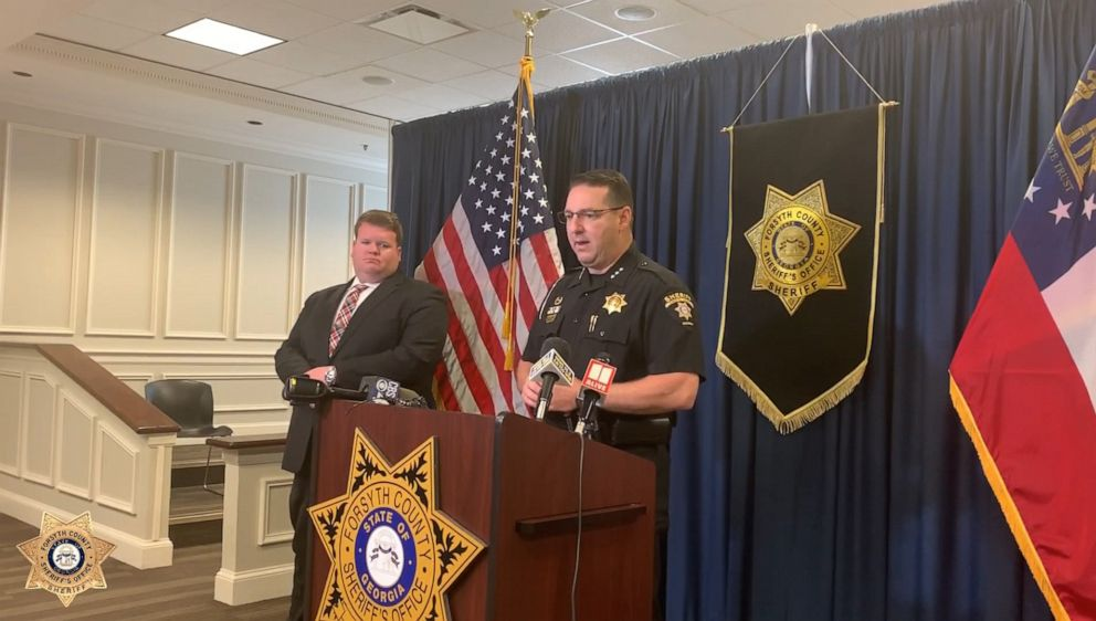PHOTO: Sheriff Ron Freeman of the Forsyth County Sheriffs Office speaks at a press conference regarding an infant that was found in Georgia, June 7, 2019.