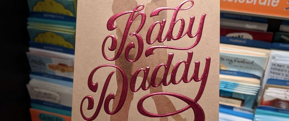 """PHOTO: Target stores have pulled a Fathers Day card, depicting a black couple and the words """"Baby Daddy"""", from the shelves after getting complaints that it is racially insensitive."""