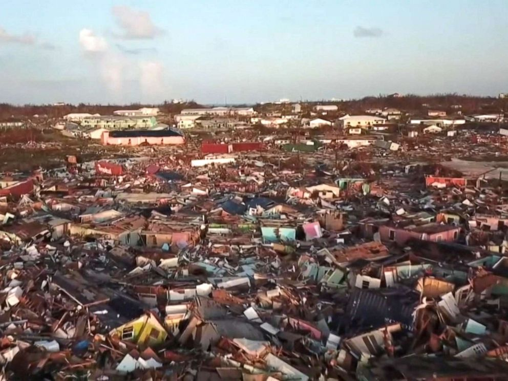 PHOTO: An aerial view of the area damaged by Hurricane Dorian on the Abaco Islands in the Bahamas.