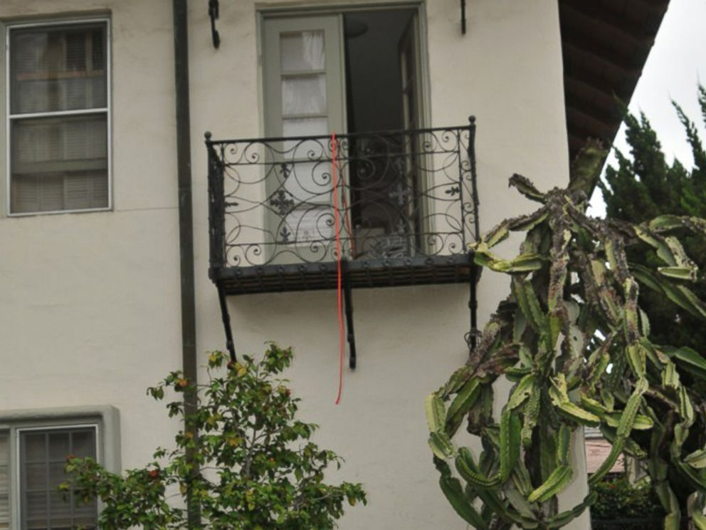 PHOTO: The mansion balcony where Rebecca Zahau was found hanging is pictured here.