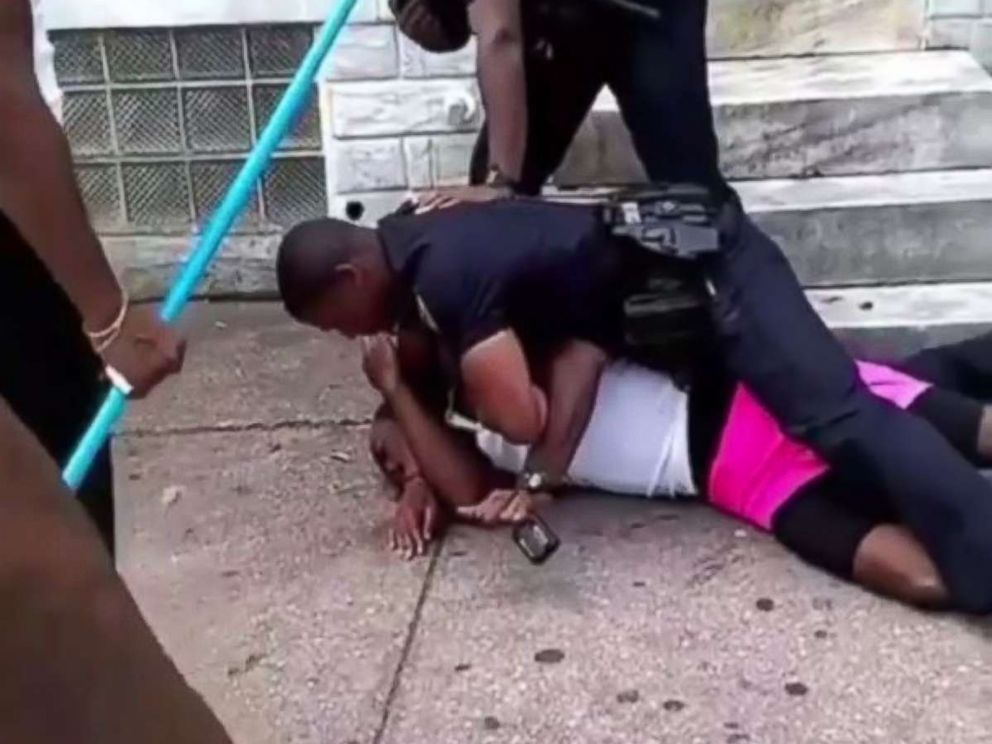 A Baltimore police officer was suspended on Saturday Aug. 11 2018 after he was seen on video repeatedly punching a man who refused to show identification