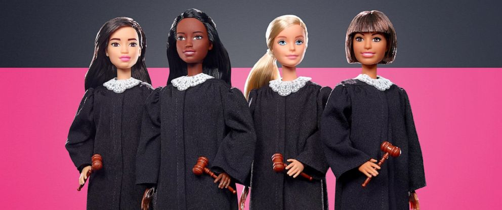 PHOTO: With over 200 careers since 1959, this year Barbie takes the stand as a Judge! The Barbie Judge Doll encourages girls to learn more about making decisions to change the world for the better.