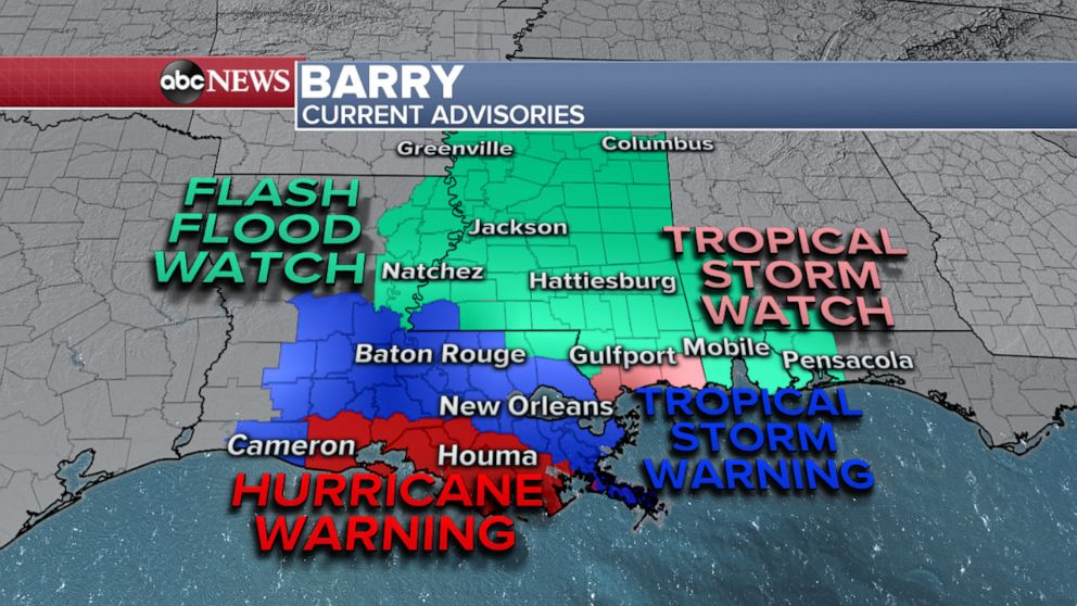 PHOTO: Barry: Current Advisories