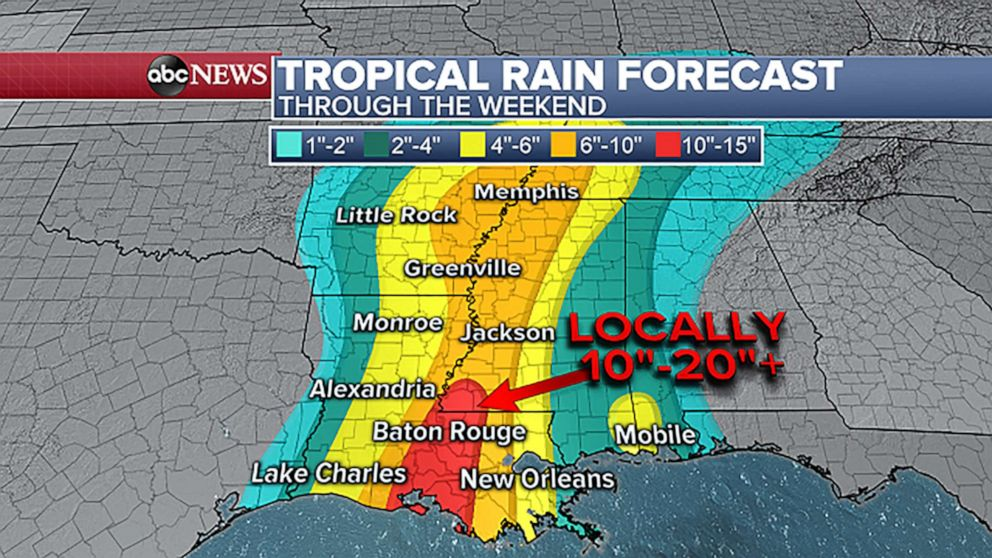 PHOTO: Barry rainfall forecast.