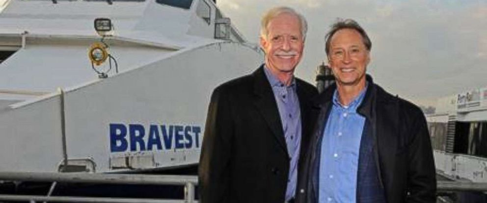 "PHOTO: Captain ""Sully"" Sullenberger, left, and Barry Leonard are seen in this undated photo."