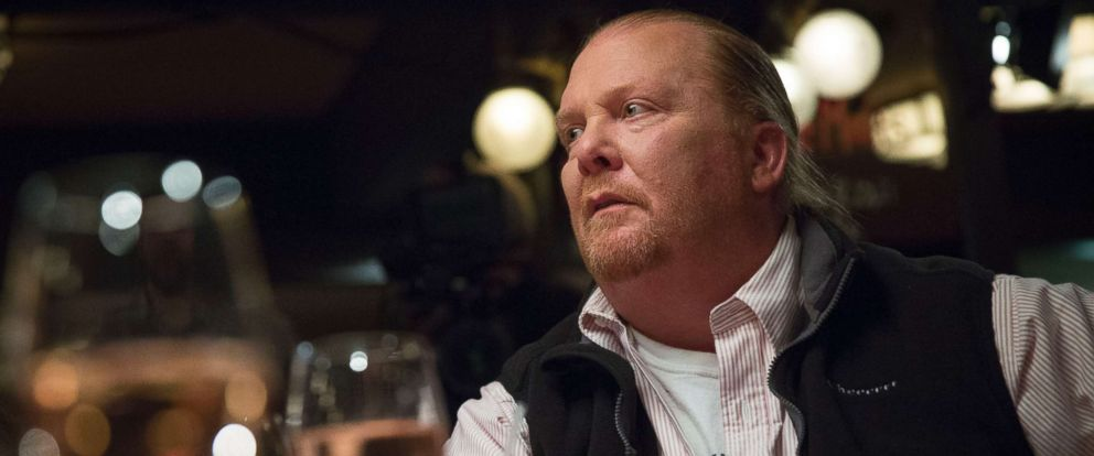 PHOTO: Chef Mario Batali pauses during an interview in New York, April 4, 2013.