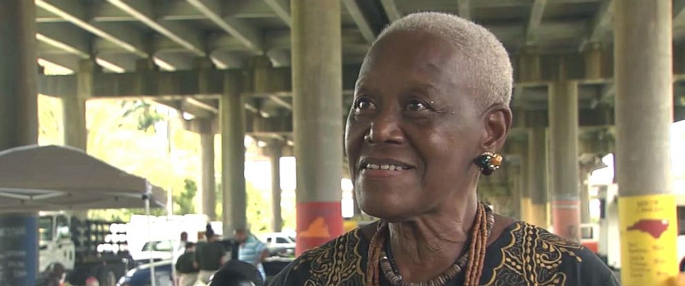 PHOTO: Sadie Roberts-Joseph is interviewed by WBRZ.