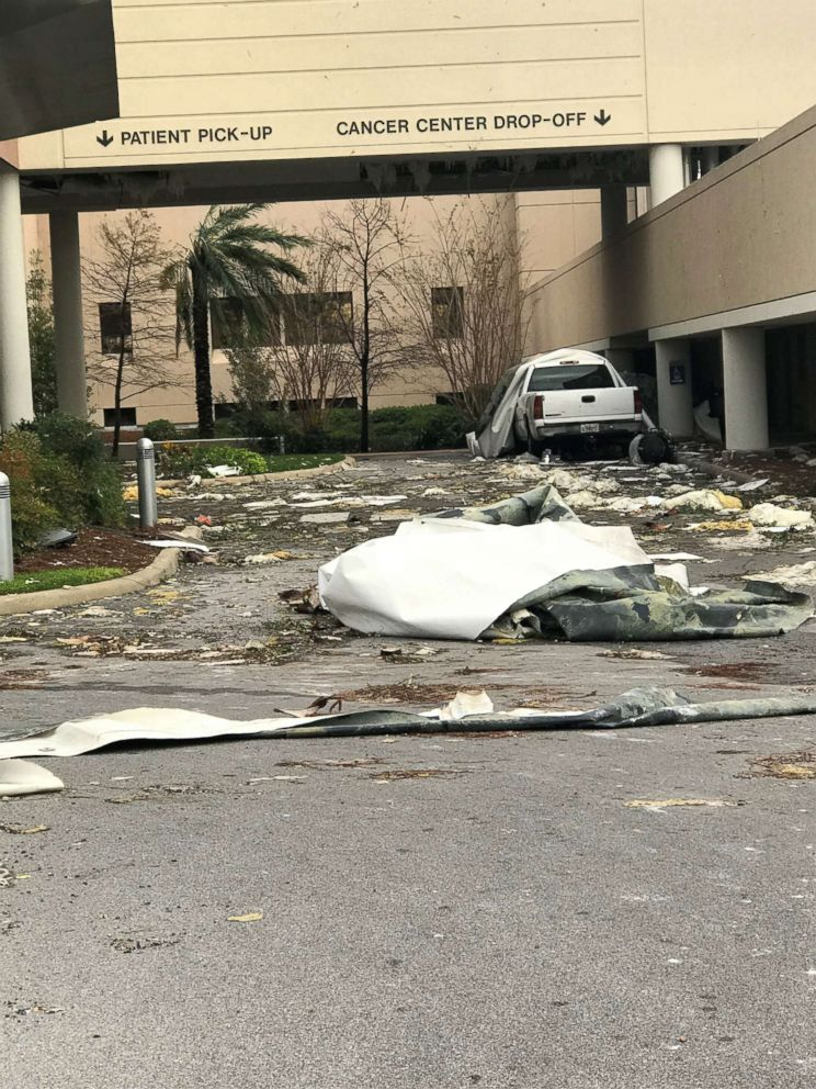 PHOTO: Bay Medical Sacred Heart has started patient evacuation due to building conditions and hurricane damage. The hospital said more than 200 patients would be evacuated in the next 48 hours.