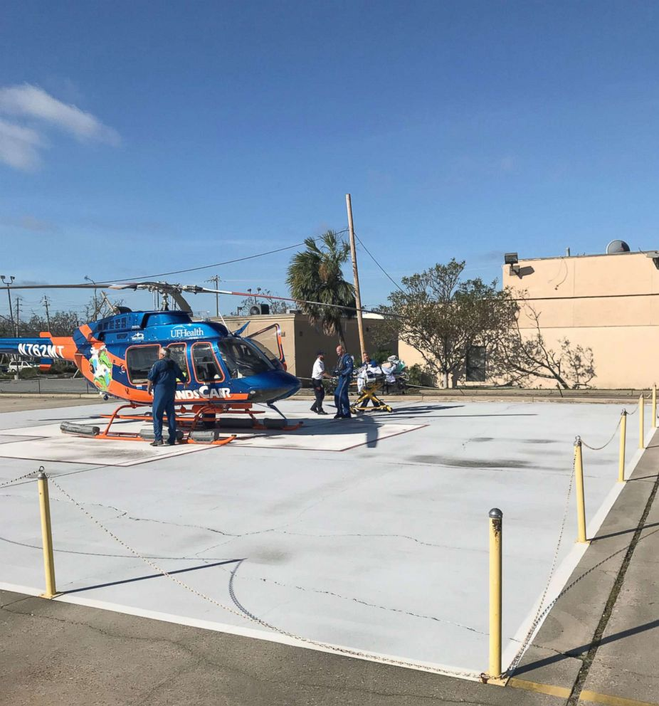 PHOTO: Staff from Ardent Health Services in Nashville flew to Panama City to deliver 1000 MREs to the Bay Medical Sacred Heart Thursday after it was hit by Hurricane Michael. Ardent Health Services is the parent company for BMSH.
