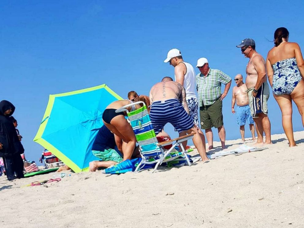 Beach Umbrella Impales British Tourist on the New Jersey Shore class=