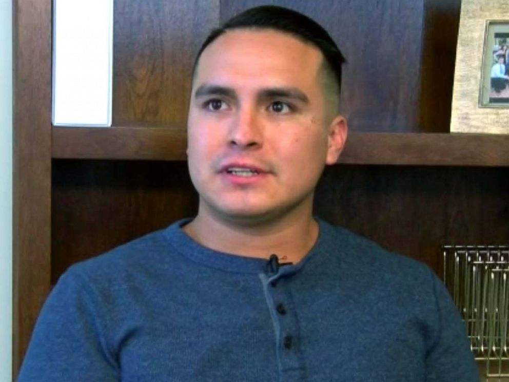 PHOTO: Undocumented immigrant Jose Bello was bailed out of ICE custody by NFL players in Bakersfield, Calif.