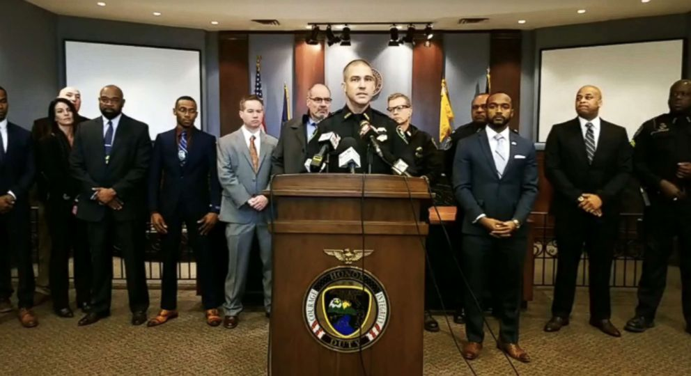 Shreveport Police Chief Ben Raymond holds a press conference on Jan. 16, 2019.