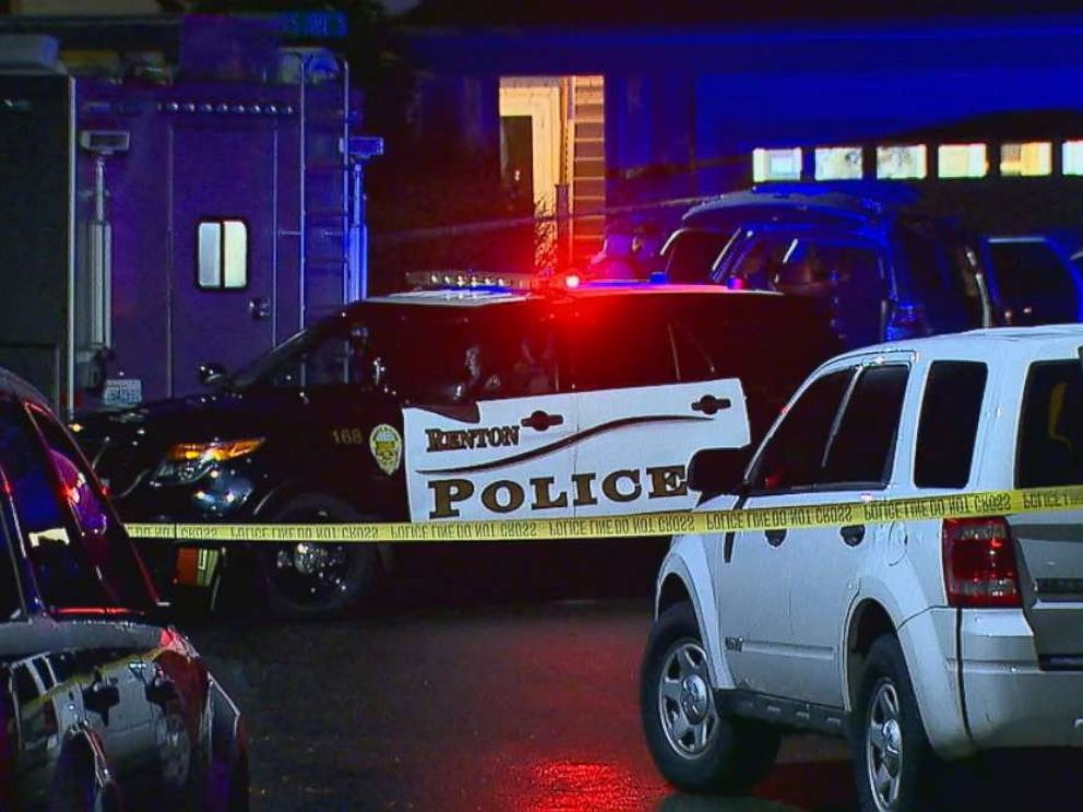 PHOTO: Police investigate a shooting at the home where Svetlana Laurel allegedly shot her 14-year-old daughter in Renton, Wash., on Tuesday, Dec. 18, 2018.