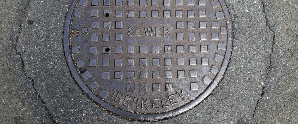 PHOTO: A cover for a sewer is shown in an intersection in Berkeley, Calif., July 18, 2019.