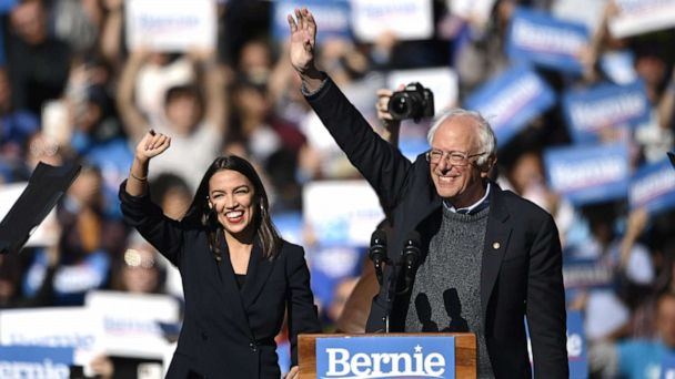 Rep. Alexandria Ocasio-Cortez comes out in support of Bernie Sanders at his first rally post-heart attack