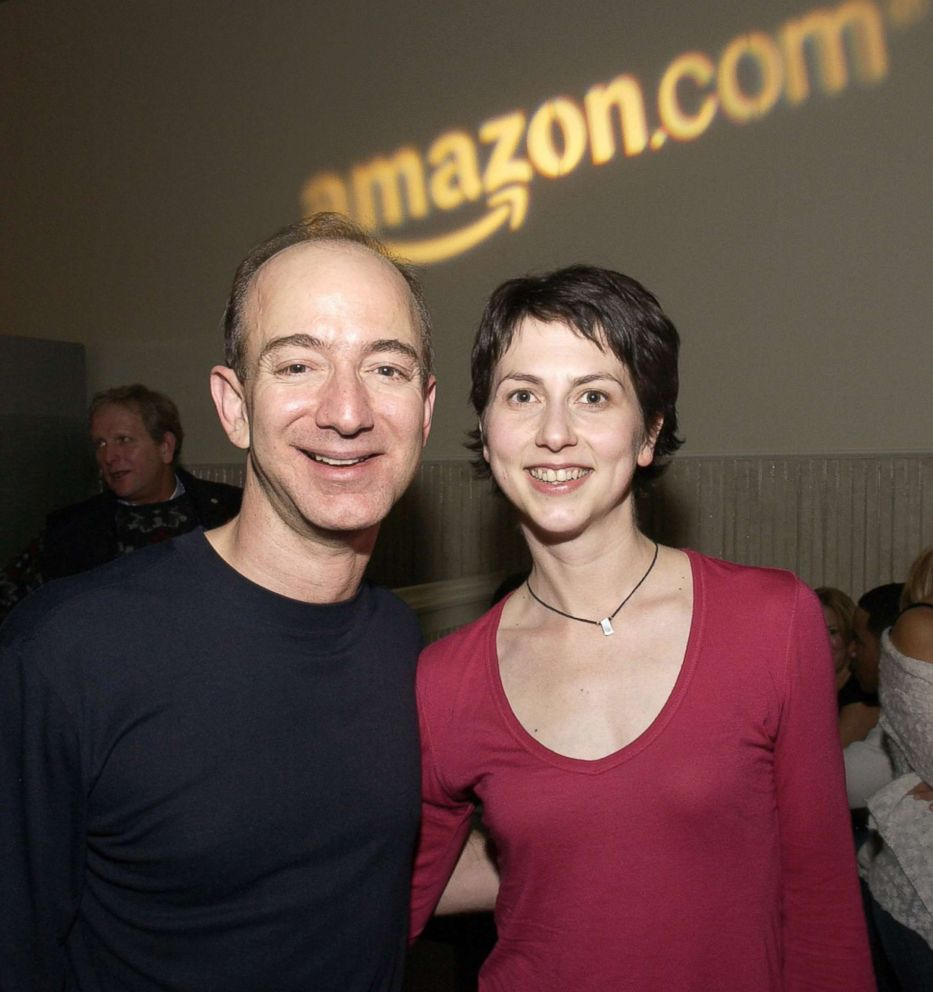 PHOTO: Jeff Bezos, CEO of Amazon and McKenzie Bezos attend the Amazon.com Sundance Party in Park City, Utah, Jan. 22, 2005.