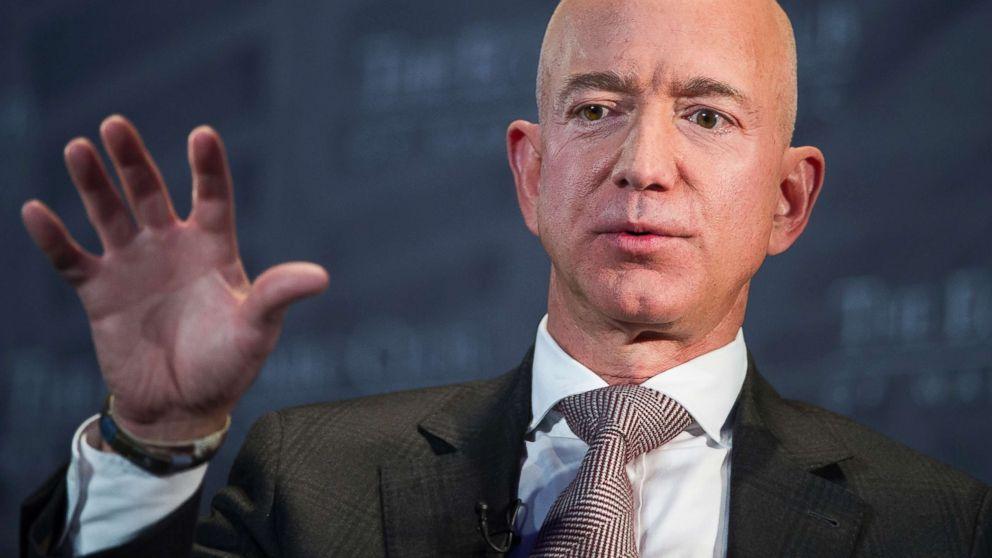 Jeff Bezos, Amazon founder and CEO, speaks at The Economic Club of Washington's Milestone Celebration in Washington D.C., Sept. 13, 2018.