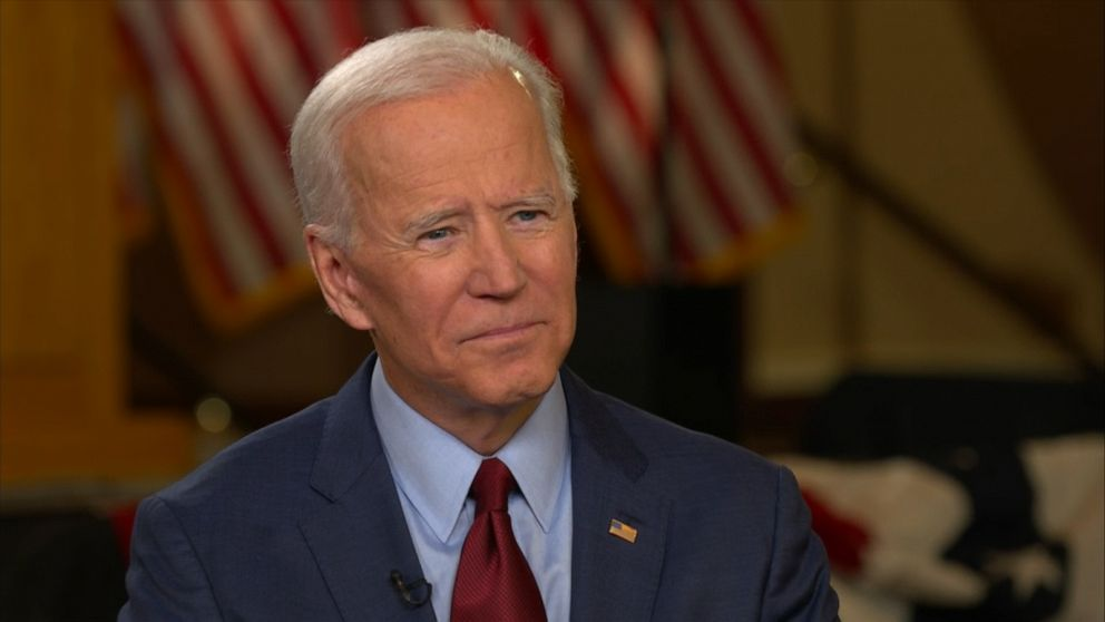 PHOTO: Joe Biden speaks with ABC News Robin Roberts, April 29, 2019.