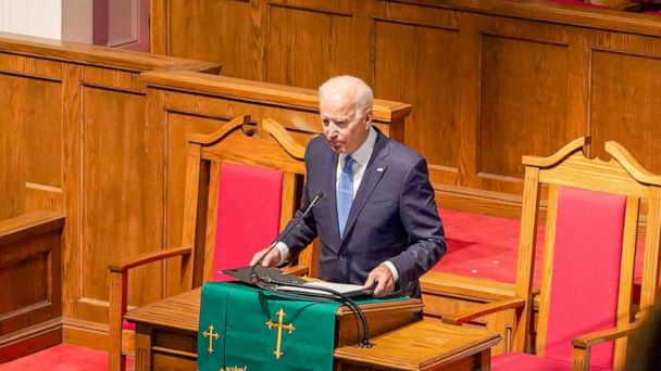 Joe Biden rebukes white supremacy at the 56th memorial observance of the Birmingham church bombing