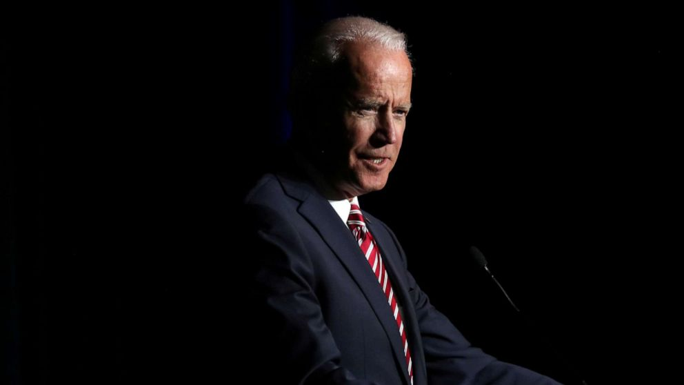 Former Vice President Joe Biden delivers remarks at the First State Democratic Dinner in Dover, Del. March 16, 2019.