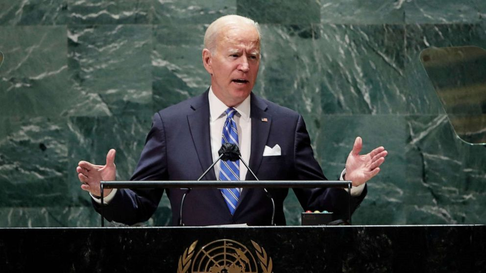WATCH: Biden addresses the 76th session of the United Nations General Assembly
