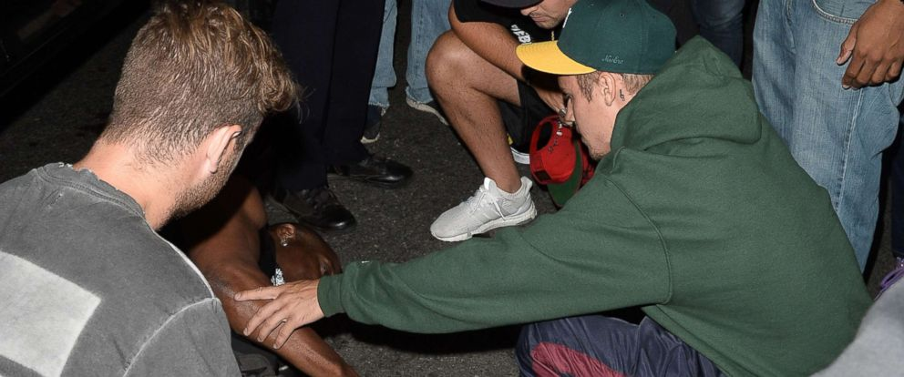 PHOTO: Justin Bieber appears to have been involved in a collision involving a vehicle he was driving and a nearby bystander, July 26, 2017.